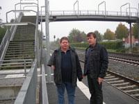 Was versteht die Bahn unter barrierefreie Zuwegung von Bahnsteigen?