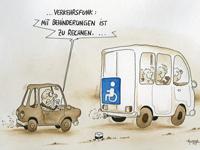 """Cartoons - """"Mit Behinderungen ist zu Rechnen"""
