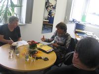 Maik Nothnagel im Gespräch mit der Eisenacher Behindertenbeauftragten am 24.10 2012