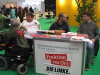 MdL Maik Nothnagel /DIE LINKE. diskutierte auf der Internationalem Fachmesse und dem Kongress für Rehabilitation in Düsseldorf