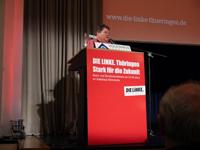 Maik Nothnagel bei einer Rede auf der Strukturkonferenz