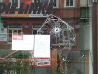 Erneuter Anschlag auf LINKE-Wahlkreisbüro in Eisenach